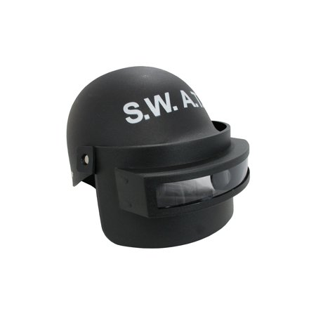 Adult SWAT Helmet With Folding Face Mask Costume Accessory (Revolution Helmet Face Mask)