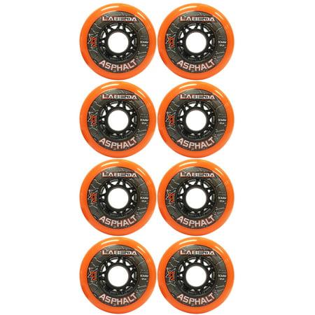 LABEDA WHEELS Inline Roller Hockey GRIPPER ASPHALT OUTDOOR ORANGE 80mm 85A x8