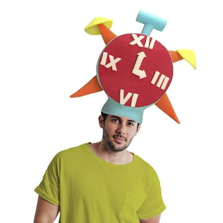 Clock Adult Foam Costume Hat - One Size](Clock Costume)