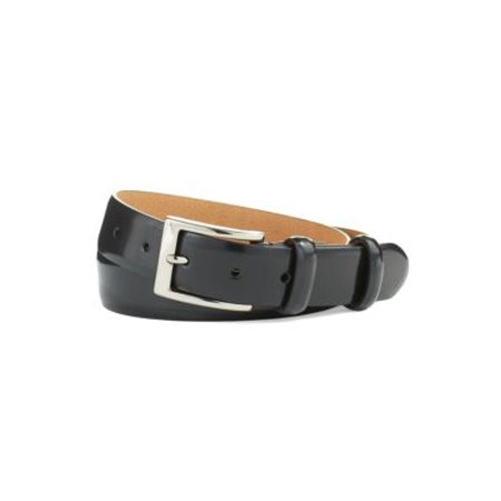 Cole Haan NEW Black Silver Men's Size 36 Patent Leather Belt Accessory ()