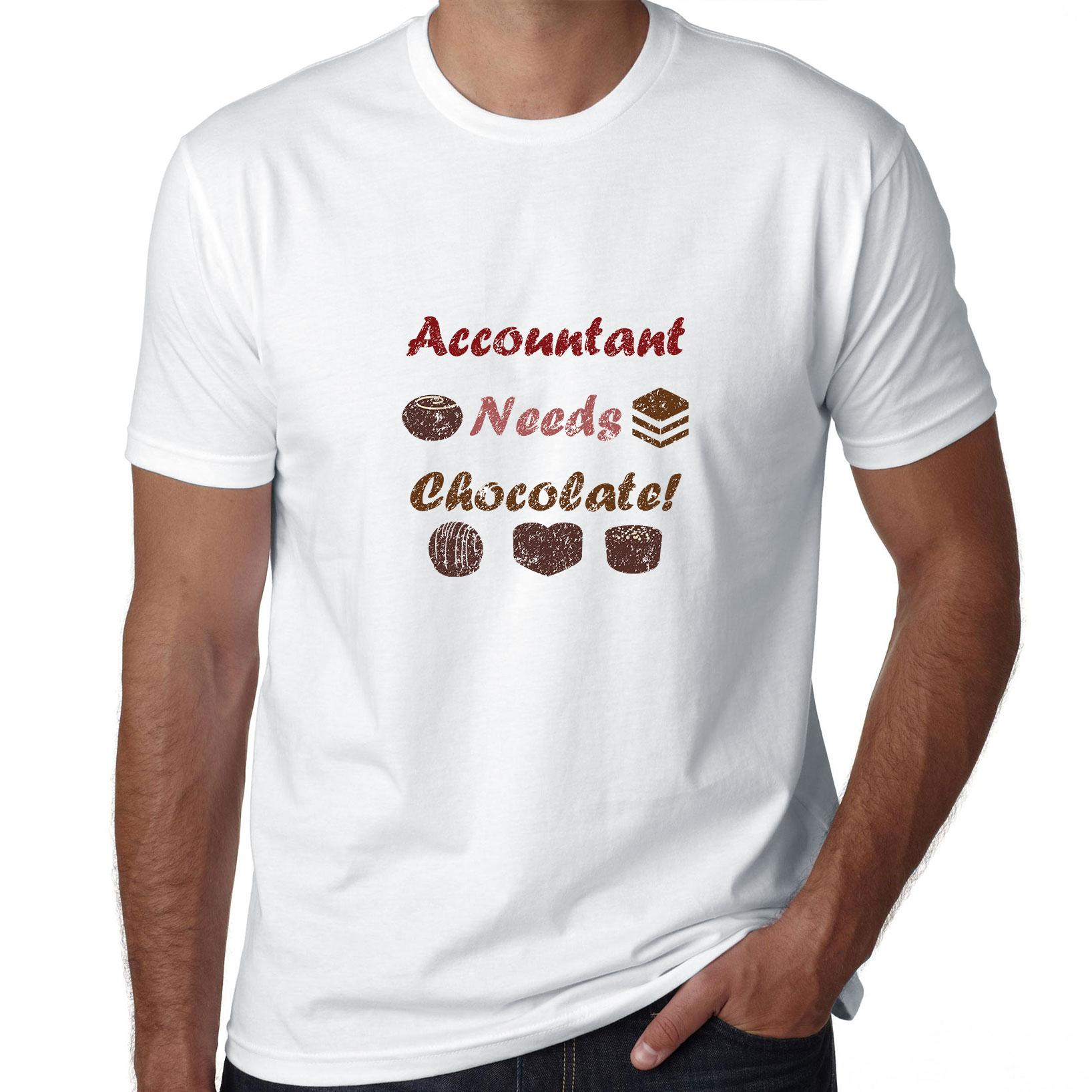 Accountant Needs Chocolate - Funny Graphic Men's T-Shirt
