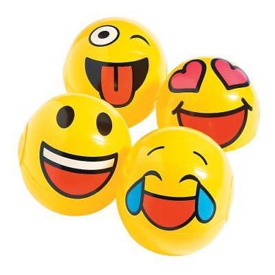 IN-13765180 Inflatable Mini Emoji Beach Balls Per Dozen