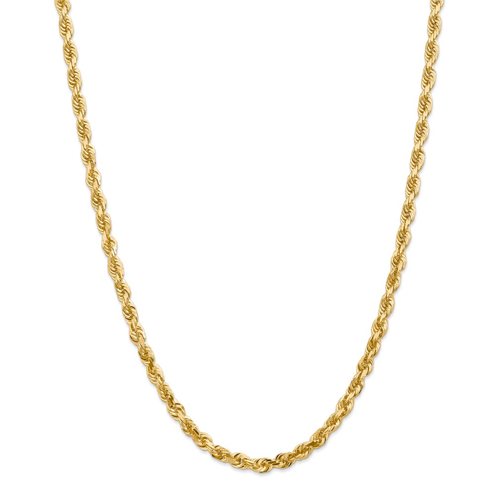 ICE CARATS 14kt Yellow Gold 5mm Quadruple Link Rope Chain Necklace 24 Inch Pendant Charm Handmade Fine Jewelry Ideal Gifts For Women Gift Set From Heart