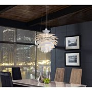 "Modway Petal 24"" Pendant Aluminum Chandelier, Multiple Colors"