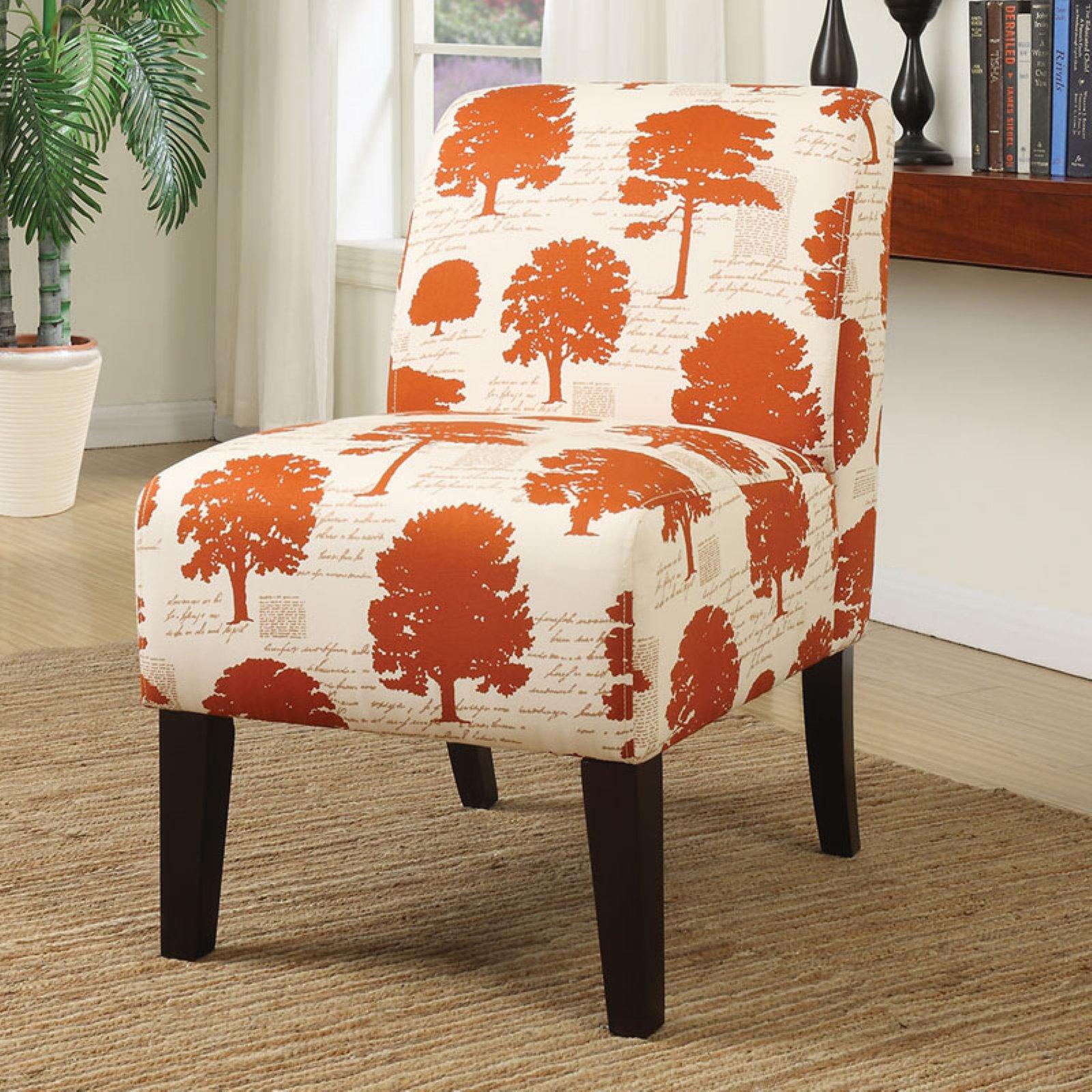ACME Ollano Fabric Slipper Chair, Multiple Patterns