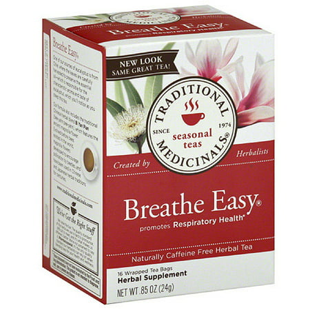 Traditional Medicinals Seasonal Teas Breathe Easy Herbal Supplement Tea, 16 count, (Pack of 6)