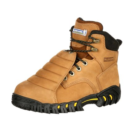 Michelin Work Boots Mens Sledge Steel Toe Metatarsal Brown - Mens Brown Pirate Boots
