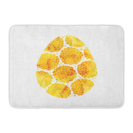 GODPOK Color April Gold Easter Egg with Abstract Pattern White Watercolor Yellow Golden Celebration Cute Rug Doormat Bath Mat 23.6x15.7 inch](Gold Door)