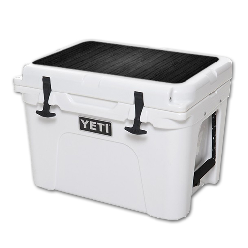 MightySkins Protective Vinyl Skin Decal for YETI Tundra 35 qt Cooler Lid wrap cover sticker skins Black Wood