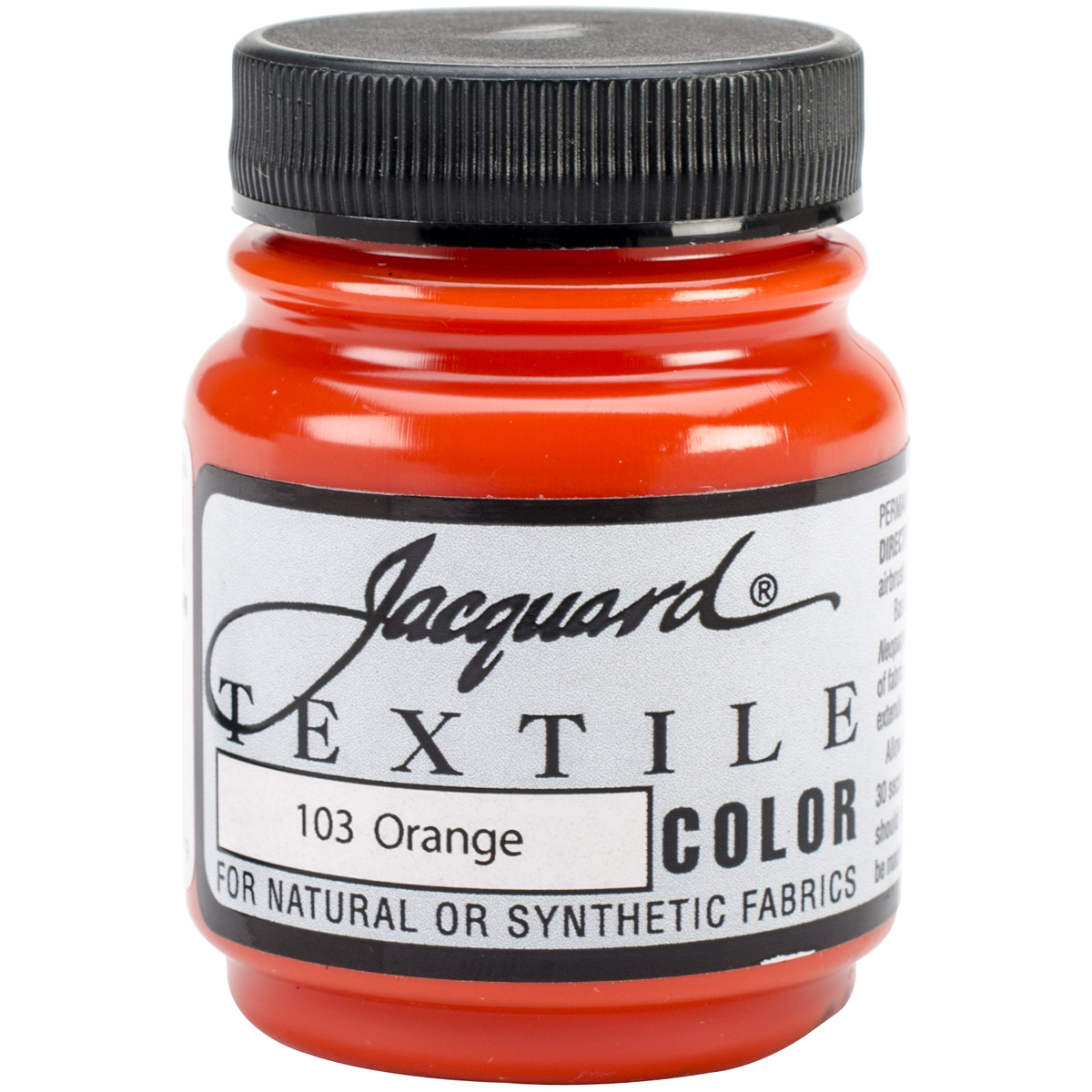 Jacquard Textile Color Fabric Paint 2.25oz-Orange