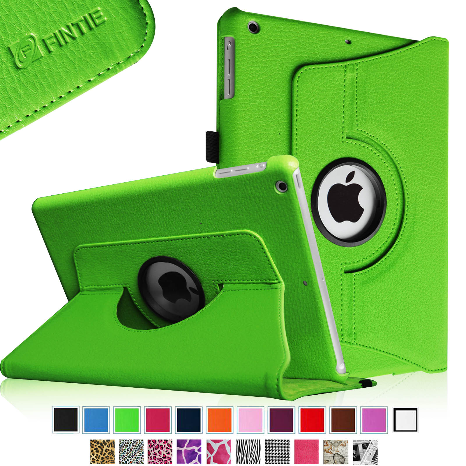 Fintie iPad Air Multiple Angles Stand Case Cover with Auto Sleep Wake, Green