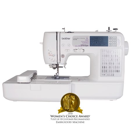 Brother SE40 Computerized Sewing And Embroidery Machine Walmart Fascinating Monogram And Sewing Machine