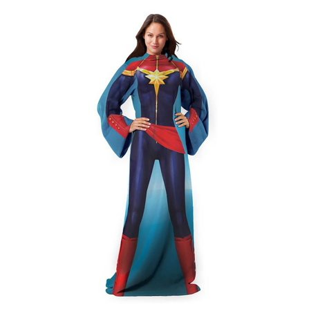Avengers: Mighty Captain Marvel Adult Comfy Throw - image 1 de 1