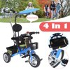 3 in 1Tricycle Baby Kids Children Smart Ride on Trike Stroller Tricycle Christams Gift
