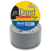 """BAZIC Silver Duct Tape 1 7/8"""" x 10 Yards 36Pcs"""