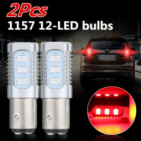 1 Pair 1157 Red Flashing Strobe Blinking Rear Alert Safety Brake Tail Stop Lights Low Power Consumption High
