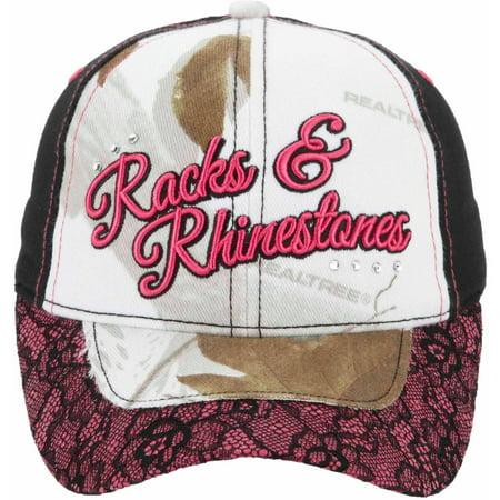 Bone Collector Women's Lace Camo Cap, Racks and Rhinestones thumbnail