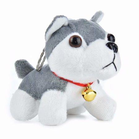 Akoyovwerve Cute Husky Pendant Spotty Dog Plush Kids Toy Childrens Stuffed Animal,Gray