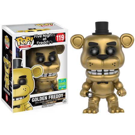 Funko POP Games Five Nights At Freddys Golden Freddy Summer Convention Exclusive