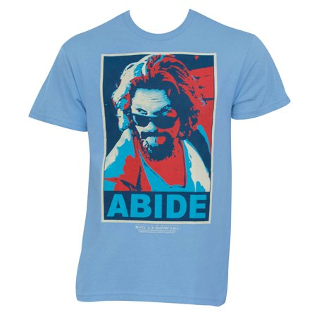 The Big Lebowski Red Blue Abide Light Blue Graphic Tee - The Big Top