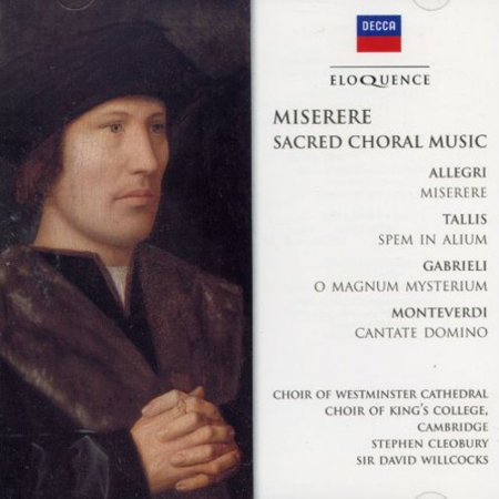 Miserere-Sacred Choral Music (Choral Singing Cd Bass)