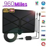 960 Mile Range Antenna TV Digital HDTV 1080P HD Skywire 4K Indoor Aerial