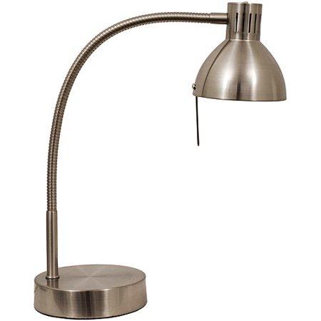 Mainstays Halogen Desk Lamp Brushed Steel Walmart Com