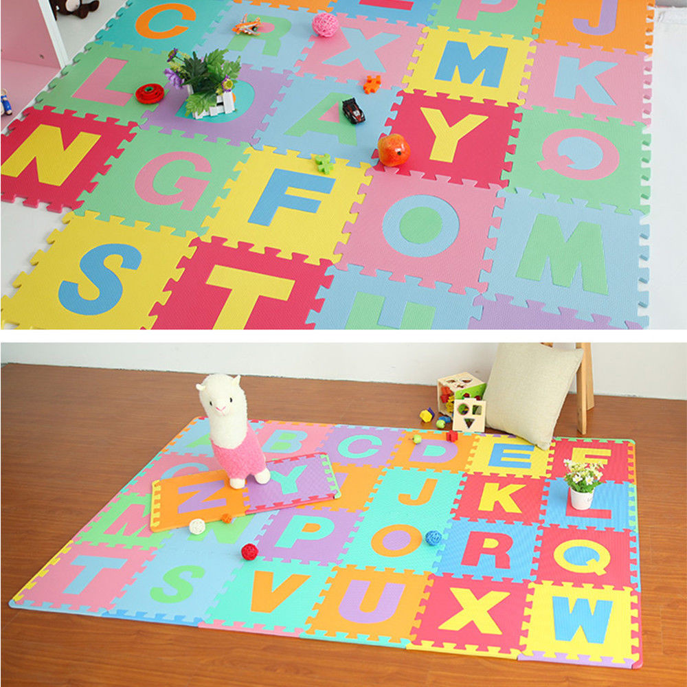 Mosunx 36pc Alphabet Numbers EVA Floor Play Mat Baby Room ABC Foam Puzzle by