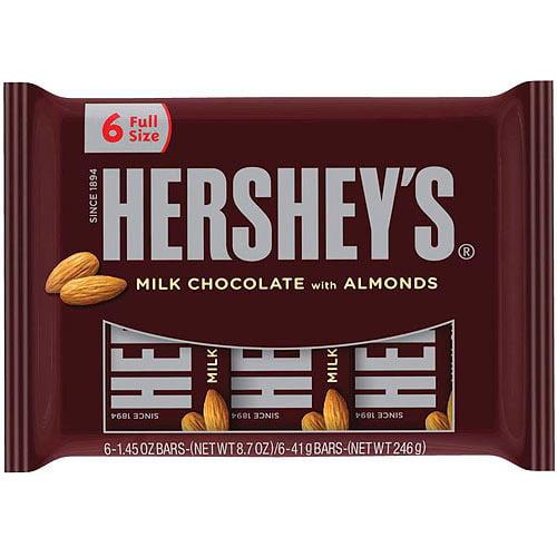 Hershey's Milk Chocolate w/Almonds, 6 Ct