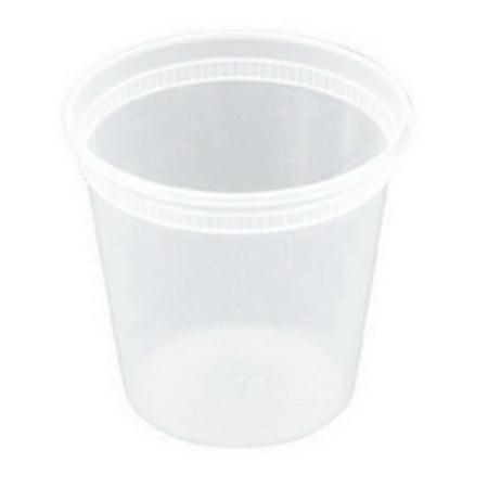 Pactiv Newspring Delitainer Polypropylene Round Heavy Gauge Food Container Translucent, 24 oz.   240/Case (Heavy Round Box)