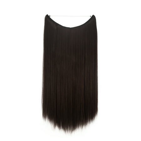 FLORATA Hair Hidden Wire Extensions Secret Hair Extensions Long Straight No Clips No Glue Hairpieces Invisible Fish Line in](cheapest place to buy hair extensions)