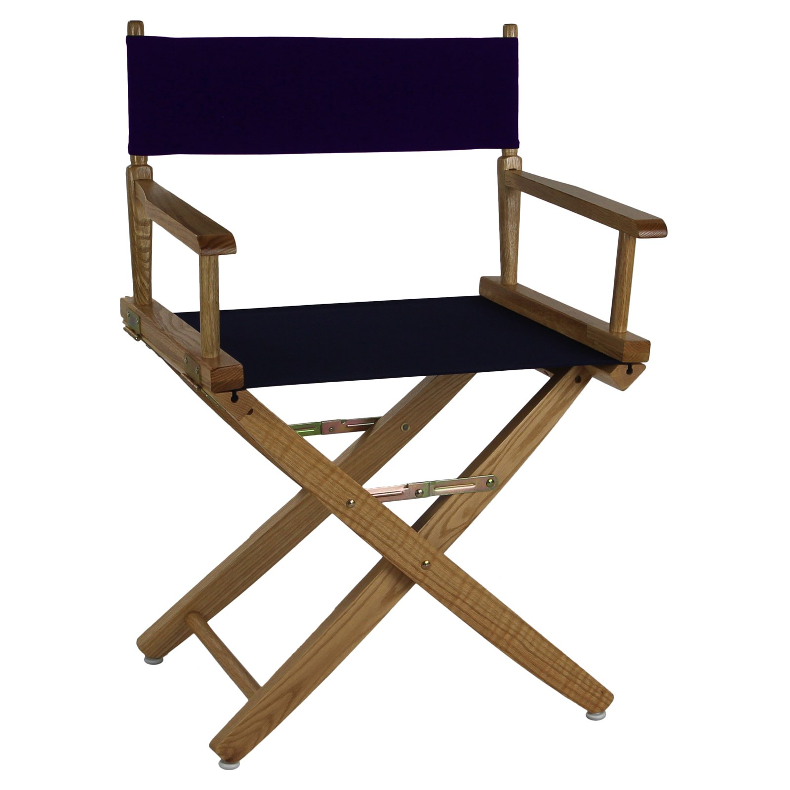 "American Trails Extra-Wide Premium 18"" Directors Chair Natural Frame w/ Navy Color Cover"