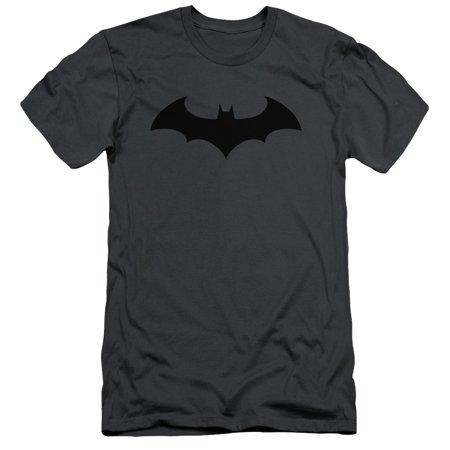 Batman/Hush Logo   S/S Adult 30/1   Charcoal     Bm1553