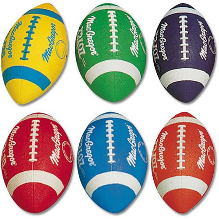 MacGregor Multicolor Youth Rubber Footballs Prism - Runner Football