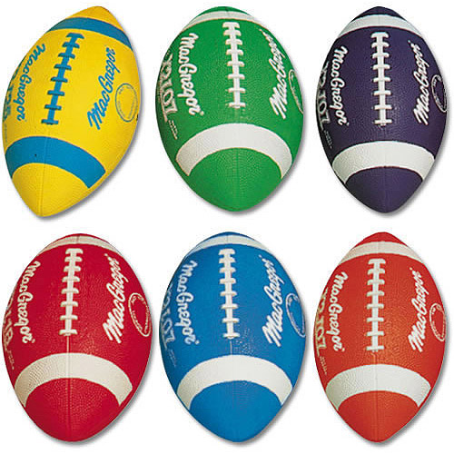 MacGregor Multicolor Youth Rubber Footballs Prism Pack