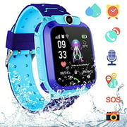 LNKOO Kids Smartwatch Waterproof AGPS Tracker Anti-Lost Smart Watch Phone for Children 3-12 Girls Boys SOS Call Remote Camera Two Way Call Touch Screen Games Christmas Birthday