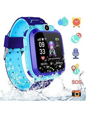 Amerteer AGPS Kids Smartwatch, Waterproof Smartwatch for Kids with Quick Dial, SOS Call, Camera Anti-Lost Calling Phone Watches, Birthday Gift Game Watch for Boys and Girls