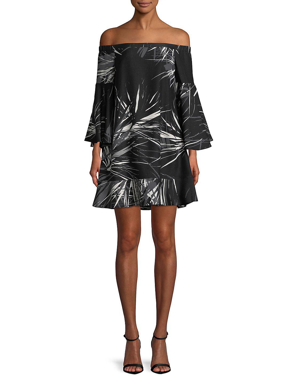 Off-The-Shoulder Bell-Sleeve Dress