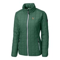 Miami Hurricanes Cutter & Buck Women's Rainier Full-Zip Puffer Jacket - Green