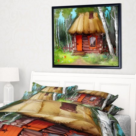 Extra Large House (DESIGN ART Designart 'Rural Landscape with House' Extra Large Landscape Framed Canvas Art Print )