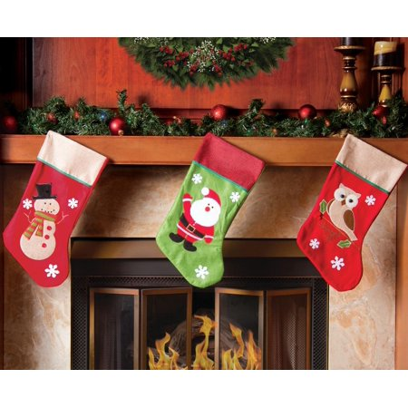 Santa Quilted Stocking (Christmas Stocking Set - 19