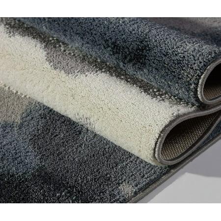 Gray Micro Polyester Area Rug Carpet