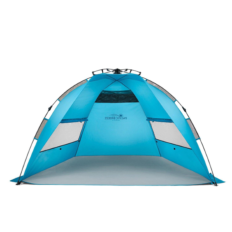 Easy Setup Beach Tent - Automatic Pop Instant Sun Shelter Portable Sunshade - Walmart.com  sc 1 st  Walmart & Easy Setup Beach Tent - Automatic Pop Instant Sun Shelter Portable ...