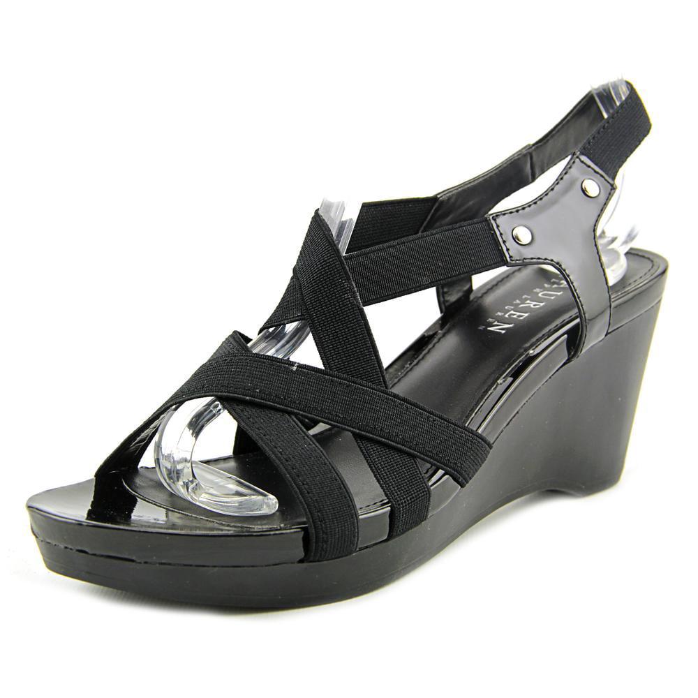Ralph Lauren Rikki Women  Open Toe Canvas  Wedge Heel