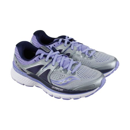 3305f60917c9 Saucony - Saucony Triumph Iso 3 Womens Gray Purple Mesh Athletic Lace Up  Running Shoes - Walmart.com