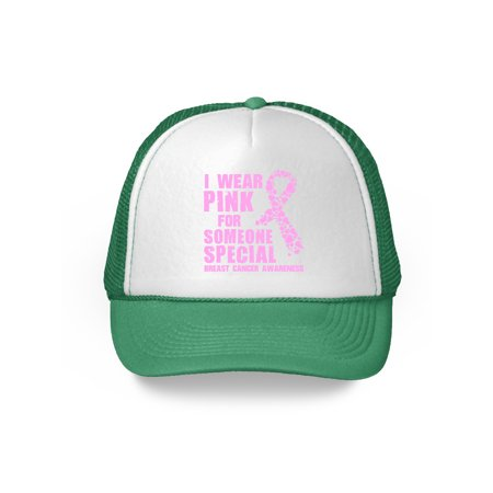Awkward Styles I Wear Pink For Someone Special Hat Pink Ribbon Trucker Hat Breast Cancer Awareness Gifts Cancer Support Ribbon Trucker Hat Cancer Awareness Gifts for Cancer Survivor Support Cancer
