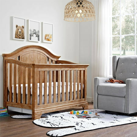 Baby Relax Macy 4 In 1 Convertible Crib Natural Rustic