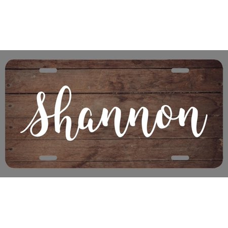 Shannon Metal (Shannon Name Wood Style License Plate Tag Vanity Novelty Metal   UV Printed Metal   6-Inches By 12-Inches   Car Truck RV Trailer Wall Shop Man Cave   NP304 )