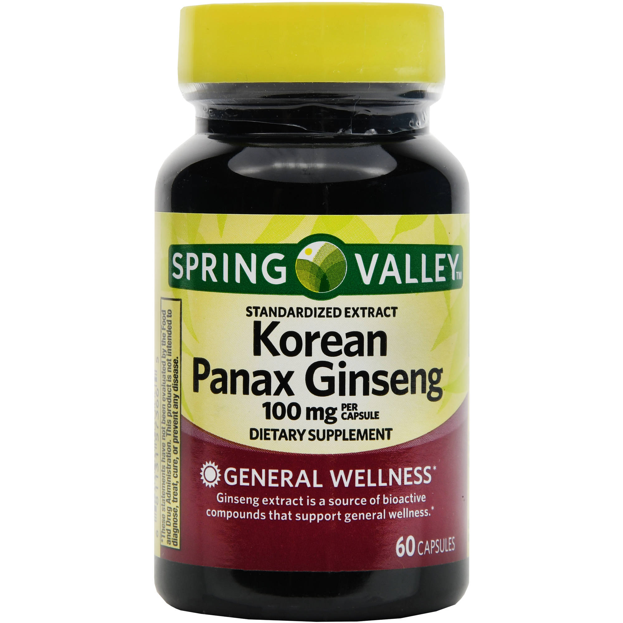 Spring Valley Korean Panax Ginseng Extract Capsules 100