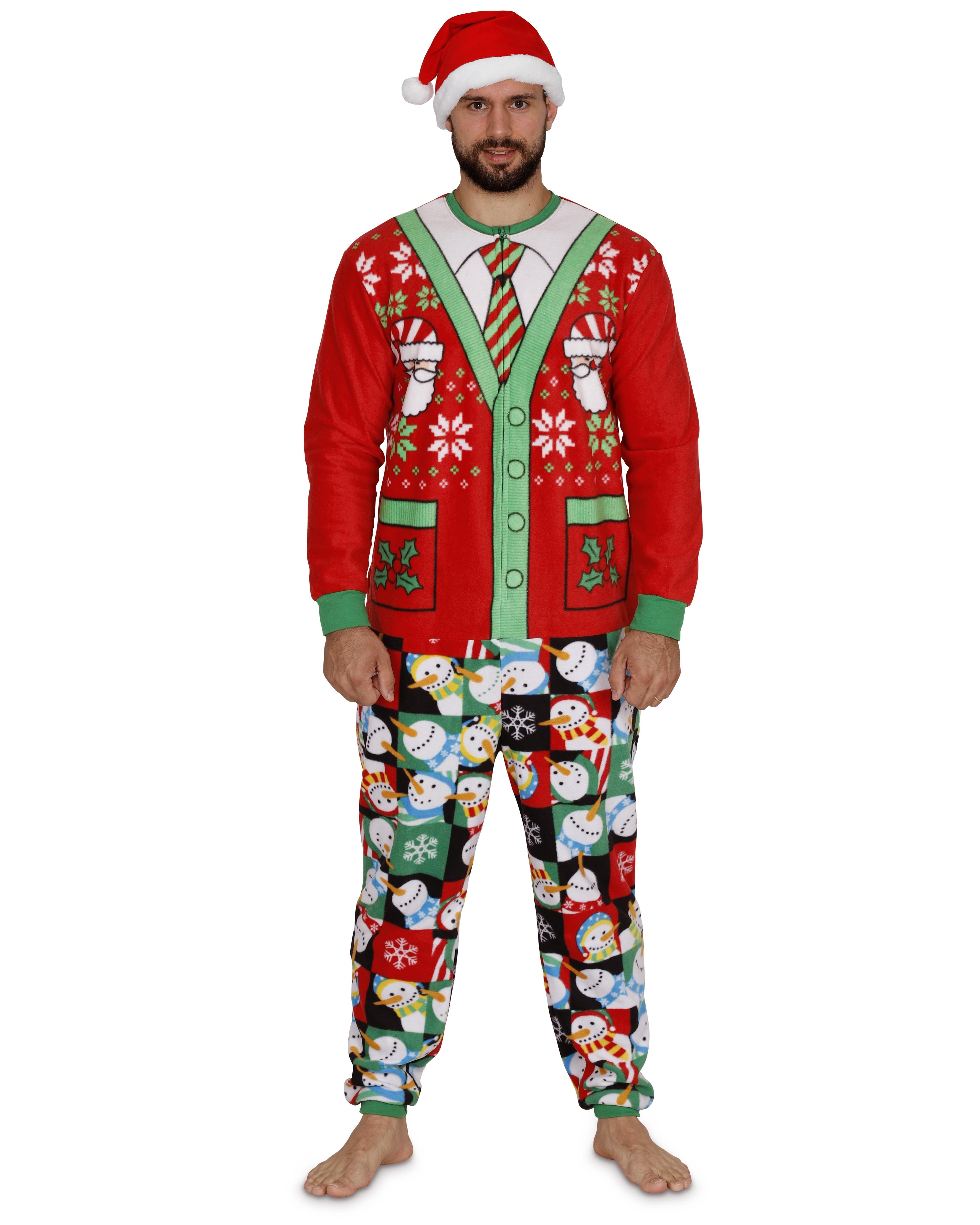 91751706f465 MJC - Secret Santa Adult Mens Womens Christmas Holiday Elf Onesie Pajama